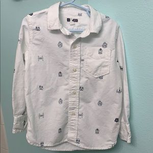 GAP Star Wars White Button Down Oxford shirt